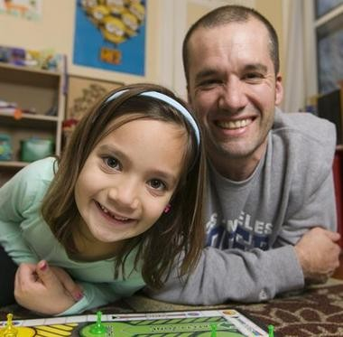 """Daughter Carla, 7, is the top reason Ben Osborne plans to remain in the Garden State, which he believes is """"a great place to raise a family."""" (Steve Hockstein 