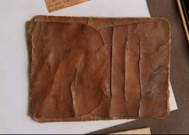 A wallet allegedly made from the human skin remains of murderer Antoine LeBlanc, from the collection of Douglas Scherzer of Morris Plains. Scherzer inherited the wallet from his father Carl, who was history buff who wrote about Morristown's early years.