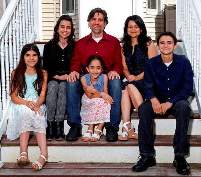 Tony and Maria Triolo, who live in Monmouth County, believe the money they have been saving will cover college tuition for their oldest daughter, Emily, second from left, and son Anthony. However, they still have to figure out how to finance college for younger daughters, Sarah, left, and Catherine, third from left. (Noah K. Murray)
