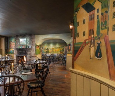 Murals in the dining room are almost a century old.