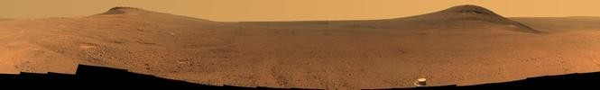 Opportunity's panoramic camera captured these images of Endeavor Crater in June 2017. Opportunity has been on the Martian surface for 14 years.
