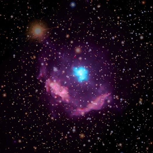 Scientists have confirmed the identity of the youngest known pulsar in the Milky Way galaxy using data from NASA's Chandra X-ray Observatory. This result could provide astronomers new information about how some stars end their lives. 19,000 light years away in the constellation Aquila.