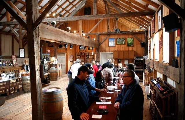 The tasting room at Unionville Vineyards in Ringoes.
