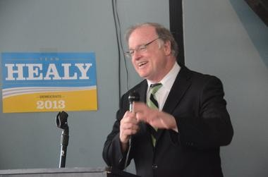 Team Healy campaign launch at Michael Anthony's Restaurant in downtown Jersey City on Saturday afternoon. February 16, 2013.