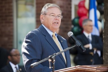 U.S. Sen. Robert Menendez speaks at the grand opening ceremony for Martin's Place, Jersey City's new prisoner re-entry center, located at 398 Martin Luther King Drive, Monday, Sept. 15, 2014.