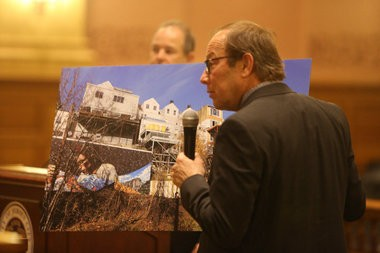 Architect Dean Marchetto speaks to the Jersey City Zoning Board on Nov. 30, 2015 about variances Mayor Steve Fulop sought for construction on his Ogden Avenue home. Michael Dempsey   The Jersey Journal