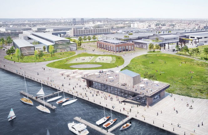 This rendering shows the final plans for Kearny Point.