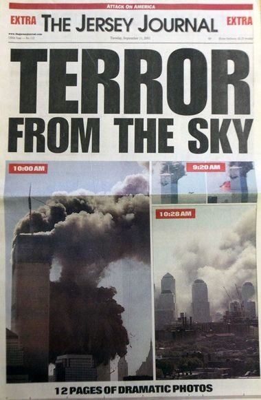 The Jersey Journal front page from Sept. 11, 2001.