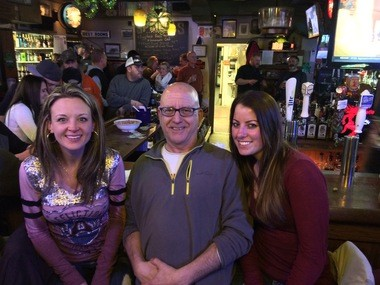 Pete Genovese at the Corner Bar with Niki Trunk, left, and Carey Bergholz