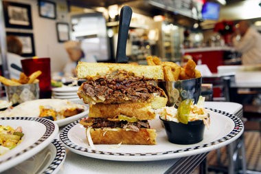 The BBQ brisket sandwich, Broad Street Diner, Keyport (Alex Remnick I NJ Advance Media for NJ.com)