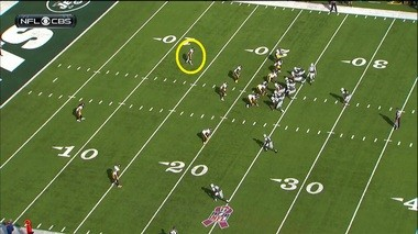 But the Steelers' veteran free safety, Ryan Clark, was in perfect position to read Smith and track Reuland.