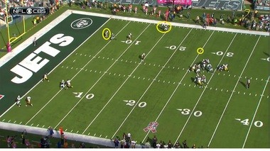 Clark broke on the deep ball just as Smith released it