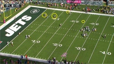 Either way, it wasn't a wise decision by Smith to throw the pass with three defenders in the area.