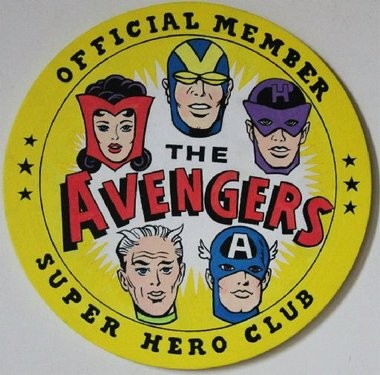 JERSEY CITY artist Robert Piersanti's take on the Avenger's Club insignia. His work is part of the art show at this weekend's Union City event.