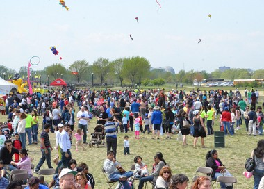 Participants enjoy last year's Hudson County Earth Day celebration at Liberty State Park.