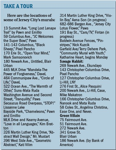 A list of some of the murals around Jersey City.