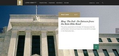 The website for investment firm Lord Abbett