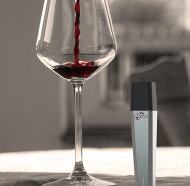 The MyOeno wine scanner measures the characteristics of red wine and recommends new wines to try. The MyOeno wine scanner measures the characteristics of red wine and recommends new wines to try.