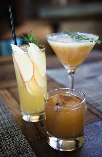 Recently at the Stone House, guests had a chance to shake up their own apple-infused spirits while sampling appetizers at a cocktail class.