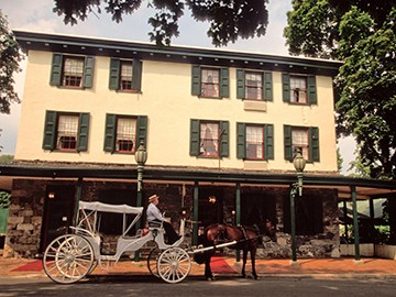 New Hope's enchanting Logan Inn is the perfect setting for a rustic holiday celebration.