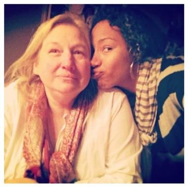 Jazmine Fenlator and her mom, Suzie