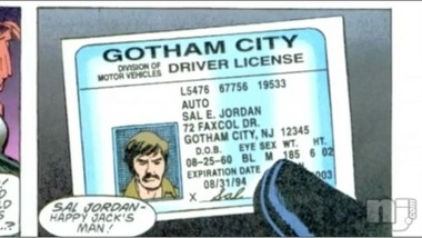 This guy provided six forms of ID to prove Gotham City is in New Jersey.