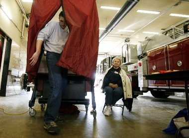 Residents headed to the polls Tuesday for county-wide, local and school elections.