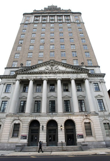 Rutgers-Newark is preparing to convert the former law school building at 15 Washington St. into student apartments.