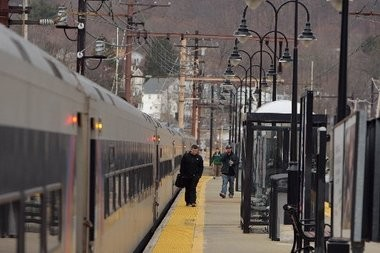 Rail service is suspended on the NJ Transit Pascack Valley rail line due to a fire, March 11, 2015. (File Photo)