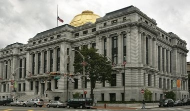 A view of Newark city hall.
