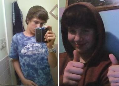 Nick Cianciotto, left, and Clyde Schimanski III in Facebook photos.