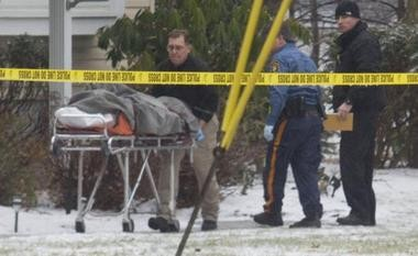 A crime scene of an apparent murder-suicide in Parsippany.
