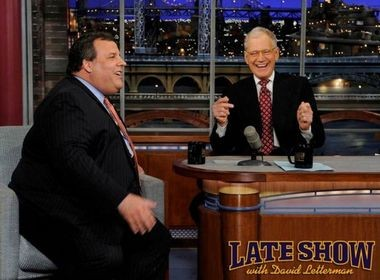 Gov. Chris Christie sits down with David Letterman on Monday's show.