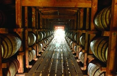 Bourbon maturing in casks at a distillery in Loretto, Ky. A distillery will open in New Jersey. New Jersey has issued its first distillery license since Prohibition ended in 1933.