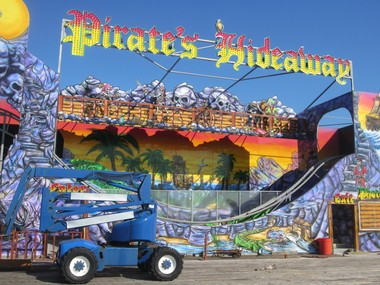 Pirate's Hideaway is one of only two rides still standing on Casino Pier