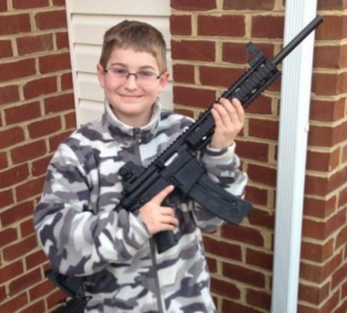 Josh Moore of Carney's Point in a Facebook photo. Child welfare case workers and police officers visited his home on Friday and asked to see his guns.