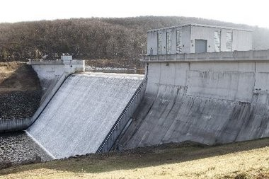 A view of the Charlotteburg Dam in Kinnelon, part of the facility of the Newark Watershed in Morris County.