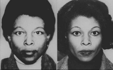 The FBI yesterday named Joanne Chesimard, a woman convicted of killing a state trooper in 1973, to its most wanted terrorists list. Chesimard, who has also been known as Assata Shakur, is shown here in 1979 and 1982.