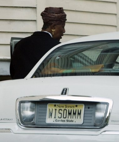 Fredrica Bey appears outside her home in East Orange. Bey is under investigation by state education officials because of problems at Adelaide L. Sanford Charter School. She has also been sued by the U.S. Attorney's Office for misusing a $345,325 federal grant.