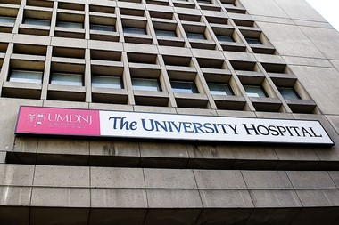 University Hospital in Newark, where a man being held at a halfway house escaped in 2010, and later murdered a 21-year-old woman from Garfield.
