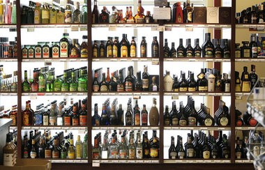 Investigators raided 29 establishments around New Jersey on suspicion of filling empty bottles of premium liquor with cheaper brands.