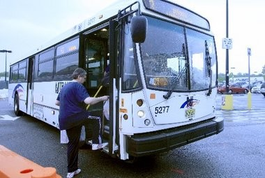 File photo of an NJ Transit bus. Passengers on the 113 Express bus had anything but a joyride Thursday morning after a lost driver arrived to the Port Authority Bus Terminal nearly two hours late.