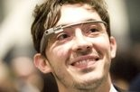 Thomas Gayno, who works for Google's Creative Lab, wearing Google Glass at the Liberty Science Center in Jersey City in May.