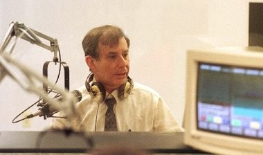 As a liberal, Ellery became increasingly rare among talk radio hosts, including his own colleagues at WCTC, where he is seen here in the studio in 1997. Ellery hung up his headphones for good after his July 3 broadcast.