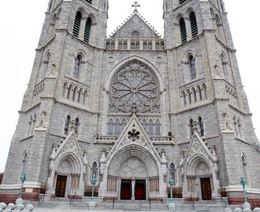 A view of the Cathedral Basilica of the Sacred Heart in Newark.