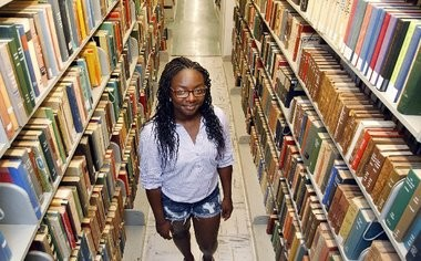 Barbara Andrews, of Piscataway, is a Rutgers Future Scholar who is starting at Rutgers in the fall. She is one of nearly 200 students who went through the five-year experimental program designed to help low-income students get into college.