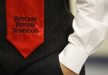 Alvaro Escalante of Piscataway wears his future scholars stole during the welcome program for the Rutgers Future Scholars program at the Nicholas Music Center at Rutgers University in New Brunswick in June.
