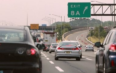 Traffic on the New Jersey Turnpike slows near Interchange 8A in this 2011 file photo.