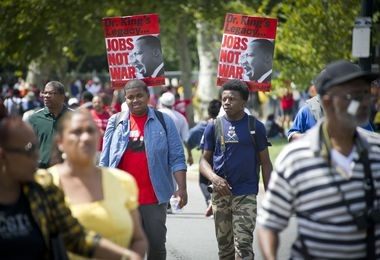 Marchers from all over the United States flocked to Washington, D.C., for the 50th anniversary of the March on Washington.
