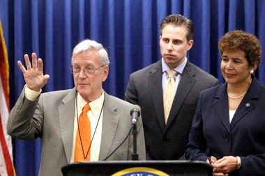 """Steven Marcus, executive director of the New Jersey Poison Information & Education System, speaks at a 2011 news conference announcing the state's ban of the drug """"bath salts."""" Marcus fears a flesh-eating drug called Krokodil may appear in New Jersey in the same way bath salts did."""